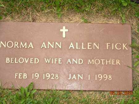 BEADLE ALLEN/FICK, NORMA ANN - Columbiana County, Ohio | NORMA ANN BEADLE ALLEN/FICK - Ohio Gravestone Photos