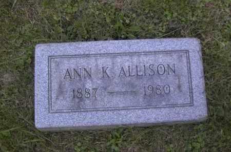 ALLISON, ANN K. - Columbiana County, Ohio | ANN K. ALLISON - Ohio Gravestone Photos