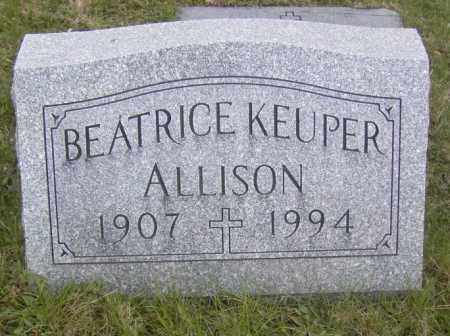 ALLISON, BEATRICE KEUPER - Columbiana County, Ohio   BEATRICE KEUPER ALLISON - Ohio Gravestone Photos