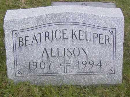 ALLISON, BEATRICE KEUPER - Columbiana County, Ohio | BEATRICE KEUPER ALLISON - Ohio Gravestone Photos