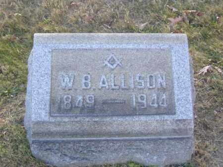 ALLISON, W.B. - Columbiana County, Ohio   W.B. ALLISON - Ohio Gravestone Photos
