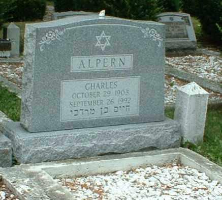 ALPERN, CHARLES - Columbiana County, Ohio   CHARLES ALPERN - Ohio Gravestone Photos