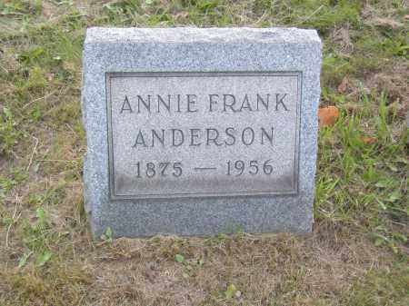 ANDERSON, ANNIE FRANK - Columbiana County, Ohio | ANNIE FRANK ANDERSON - Ohio Gravestone Photos