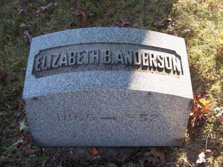 ANDERSON, ELIZABETH B. - Columbiana County, Ohio | ELIZABETH B. ANDERSON - Ohio Gravestone Photos