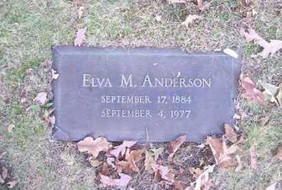 ANDERSON, ELVA M. - Columbiana County, Ohio   ELVA M. ANDERSON - Ohio Gravestone Photos