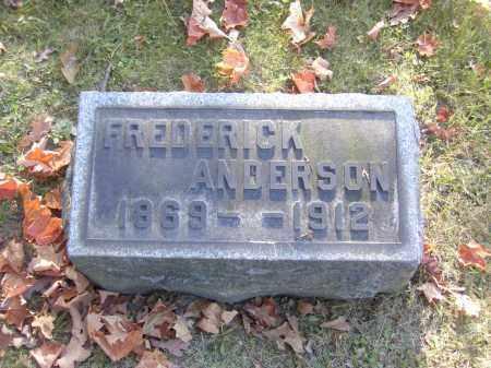 ANDERSON, FREDERICK - Columbiana County, Ohio   FREDERICK ANDERSON - Ohio Gravestone Photos
