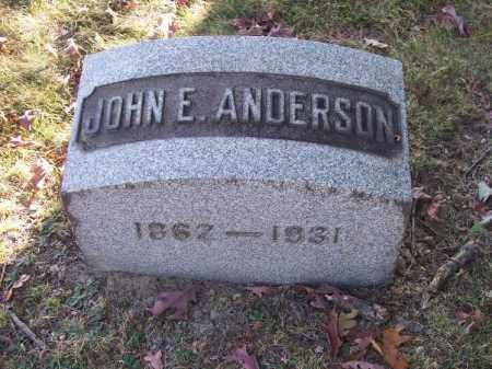 ANDERSON, JOHN E. - Columbiana County, Ohio | JOHN E. ANDERSON - Ohio Gravestone Photos