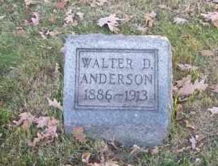 ANDERSON, WALTER D. - Columbiana County, Ohio | WALTER D. ANDERSON - Ohio Gravestone Photos