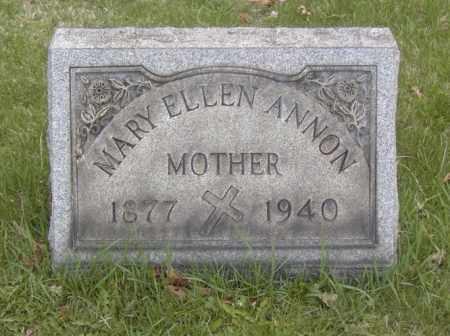 ANNON, MARY ELLEN - Columbiana County, Ohio | MARY ELLEN ANNON - Ohio Gravestone Photos