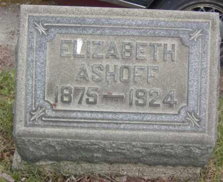 ASHOFF, ELIZABETH - Columbiana County, Ohio | ELIZABETH ASHOFF - Ohio Gravestone Photos