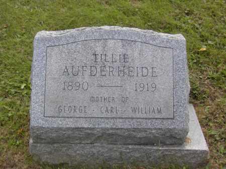AUFDERHEIDE, TILLIE - Columbiana County, Ohio   TILLIE AUFDERHEIDE - Ohio Gravestone Photos