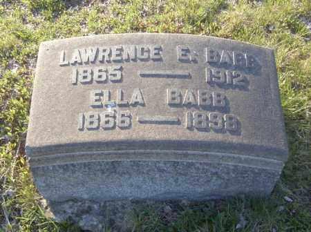 BABB, LAWRENCE E. - Columbiana County, Ohio   LAWRENCE E. BABB - Ohio Gravestone Photos