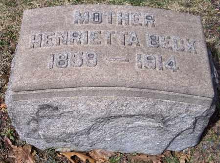 BACK, HENRIETTA - Columbiana County, Ohio | HENRIETTA BACK - Ohio Gravestone Photos