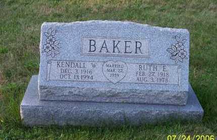 BAKER, RUTH ELIZABETH - Columbiana County, Ohio | RUTH ELIZABETH BAKER - Ohio Gravestone Photos
