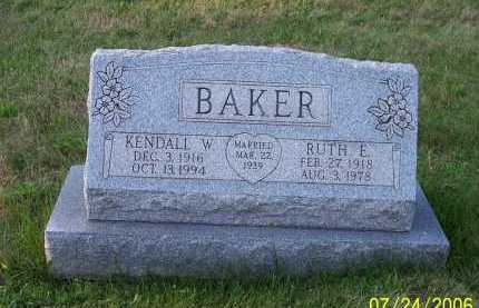 BAKER, KENDALL WOODROW - Columbiana County, Ohio | KENDALL WOODROW BAKER - Ohio Gravestone Photos