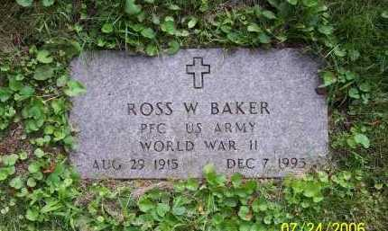 BAKER, ROSS W. - Columbiana County, Ohio | ROSS W. BAKER - Ohio Gravestone Photos