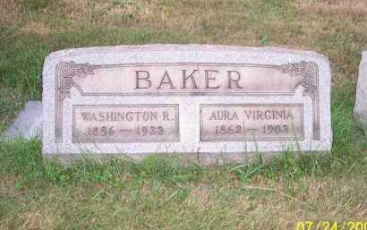 BAKER, AURA VIRGINIA - Columbiana County, Ohio   AURA VIRGINIA BAKER - Ohio Gravestone Photos