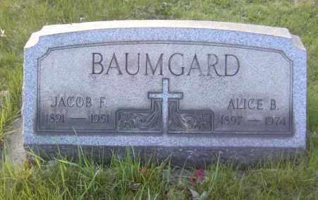BAUMGARD, ALICE B. - Columbiana County, Ohio | ALICE B. BAUMGARD - Ohio Gravestone Photos