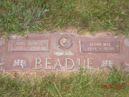 WILLARD BEADLE, LEONA MAE - Columbiana County, Ohio | LEONA MAE WILLARD BEADLE - Ohio Gravestone Photos
