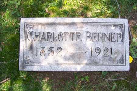 BEHNER, CHARLOTTE - Columbiana County, Ohio | CHARLOTTE BEHNER - Ohio Gravestone Photos