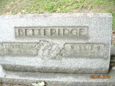 BETTERIDGE, MINNIE M - Columbiana County, Ohio | MINNIE M BETTERIDGE - Ohio Gravestone Photos