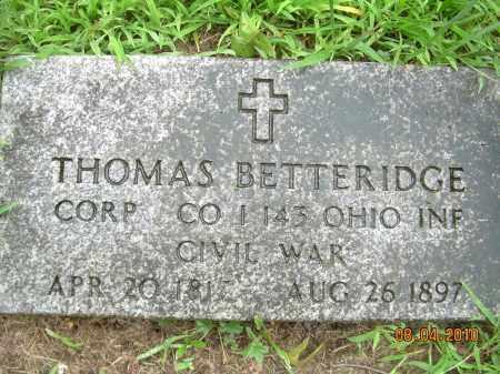 BETTERIDGE, THOMAS - Columbiana County, Ohio   THOMAS BETTERIDGE - Ohio Gravestone Photos