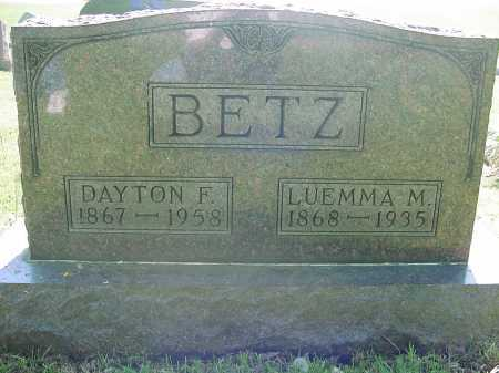 BETZ, LUEMMA - Columbiana County, Ohio | LUEMMA BETZ - Ohio Gravestone Photos