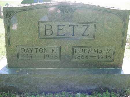 BETZ, LUEMMA - Columbiana County, Ohio   LUEMMA BETZ - Ohio Gravestone Photos