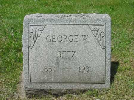 BETZ, GEORGE W - Columbiana County, Ohio | GEORGE W BETZ - Ohio Gravestone Photos