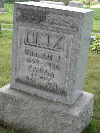 BETZ, WILLIAM J - Columbiana County, Ohio | WILLIAM J BETZ - Ohio Gravestone Photos