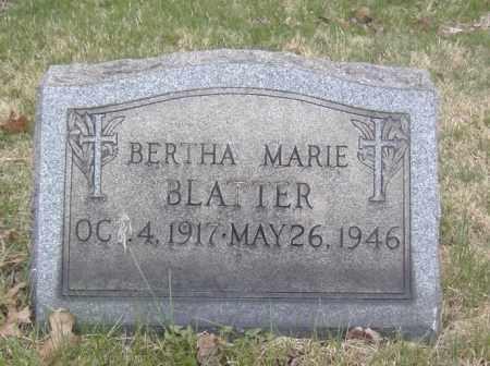 BLATTER, BERTHA MARIE - Columbiana County, Ohio   BERTHA MARIE BLATTER - Ohio Gravestone Photos