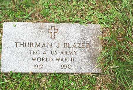 BLAZER, JR., THURMAN J. - Columbiana County, Ohio   THURMAN J. BLAZER, JR. - Ohio Gravestone Photos