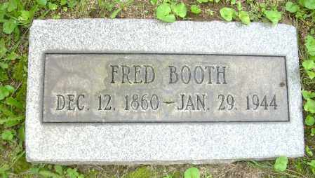 BOOTH, FRED - Columbiana County, Ohio | FRED BOOTH - Ohio Gravestone Photos