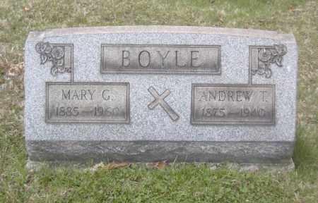 BOYLE, ANDREW T. - Columbiana County, Ohio   ANDREW T. BOYLE - Ohio Gravestone Photos