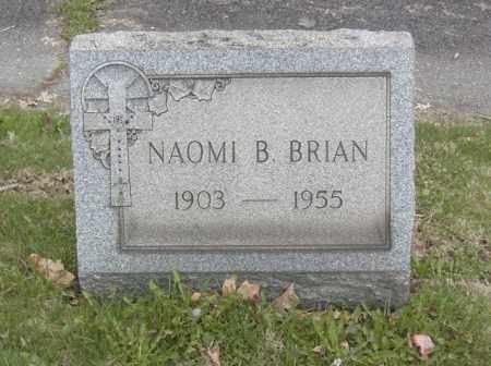 BRIAN, NAOMI B. - Columbiana County, Ohio | NAOMI B. BRIAN - Ohio Gravestone Photos