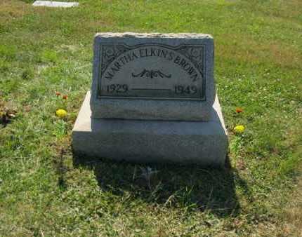 ELKINS BROWN, MARTHA ELINOR - Columbiana County, Ohio | MARTHA ELINOR ELKINS BROWN - Ohio Gravestone Photos