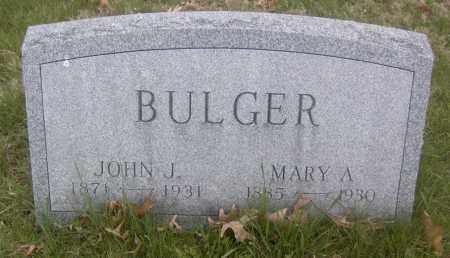 BULGER, MARY A. - Columbiana County, Ohio   MARY A. BULGER - Ohio Gravestone Photos