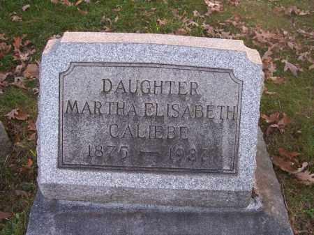 CALIEBE, MARTHA ELISABETH - Columbiana County, Ohio   MARTHA ELISABETH CALIEBE - Ohio Gravestone Photos
