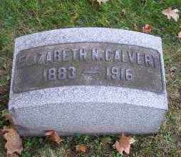 CALVERT, ELIZABETH N. - Columbiana County, Ohio   ELIZABETH N. CALVERT - Ohio Gravestone Photos