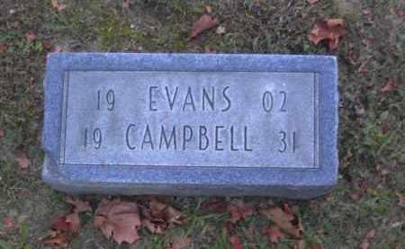 CAMPBELL, EVANS - Columbiana County, Ohio   EVANS CAMPBELL - Ohio Gravestone Photos