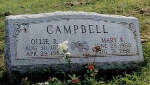 CAMPBELL, OLLIE - Columbiana County, Ohio | OLLIE CAMPBELL - Ohio Gravestone Photos
