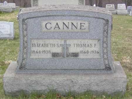 CANNE, ELIZABETH S. - Columbiana County, Ohio | ELIZABETH S. CANNE - Ohio Gravestone Photos