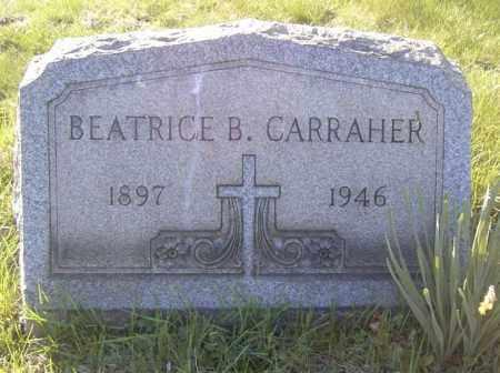 CARRAHER, BEATRICE B. - Columbiana County, Ohio   BEATRICE B. CARRAHER - Ohio Gravestone Photos