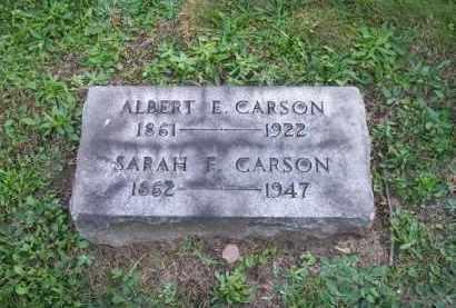 CARSON, ALBERT E. - Columbiana County, Ohio | ALBERT E. CARSON - Ohio Gravestone Photos