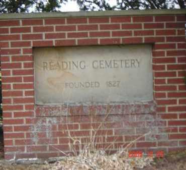 CEMETERY SIGN, READING - Columbiana County, Ohio | READING CEMETERY SIGN - Ohio Gravestone Photos