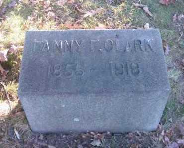 CLARK, FANNY F. - Columbiana County, Ohio | FANNY F. CLARK - Ohio Gravestone Photos
