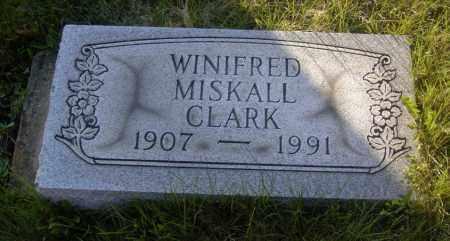 CLARK, WINIFRED MISKALL - Columbiana County, Ohio | WINIFRED MISKALL CLARK - Ohio Gravestone Photos