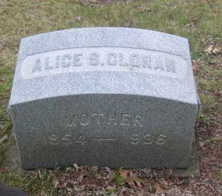 CLORAN, ALICE S. - Columbiana County, Ohio   ALICE S. CLORAN - Ohio Gravestone Photos