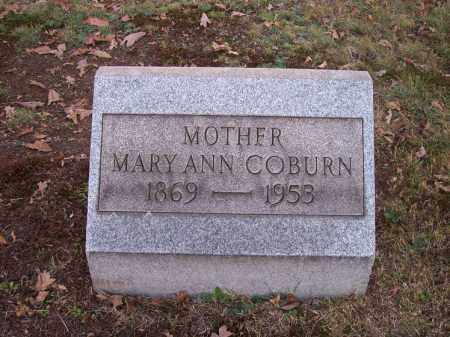 COBURN, MARY ANN - Columbiana County, Ohio | MARY ANN COBURN - Ohio Gravestone Photos