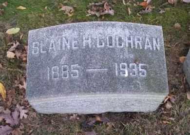 COCHRAN, BLAINE H. - Columbiana County, Ohio | BLAINE H. COCHRAN - Ohio Gravestone Photos
